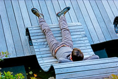 Relax on Cote d`Azur Stock Image