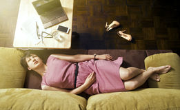 Relax on the couch v2 Royalty Free Stock Photos