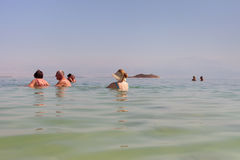 Relax at the Dead sea. Stock Photo