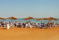 Relax at the Dead sea. Royalty Free Stock Photos