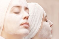 Relax and dream. Face and neck reflection Stock Photography