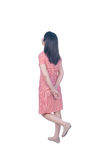 Relax dress woman isolated on white background and Clipping path Stock Photography