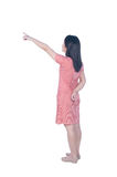 Relax dress woman isolated on white background and Clipping path Stock Photos