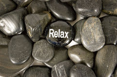 Relax Encouragement Stone Royalty Free Stock Images