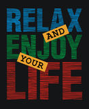 Relax and enjoy your life,  Royalty Free Stock Photo