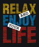 Relax and enjoy your life Stock Photo