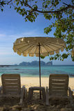 Relax and enjoy your vacation with summer, beach and sea Stock Photography