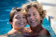 Relax and Family holidays on the Costa del Sol stock image