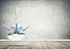 Relax and find solution Stock Images