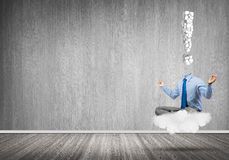 Relax and find solution Royalty Free Stock Photo