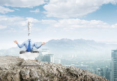 Relax and find solution Stock Image