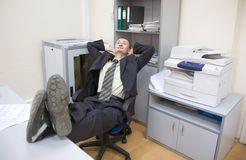 Relax after finished work Stock Photo