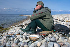 Relax after fishing Royalty Free Stock Photos
