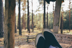 Relax in Forest Royalty Free Stock Images