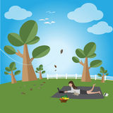 Relax in a free day. Relax in a free day, Vector illustration Royalty Free Stock Image