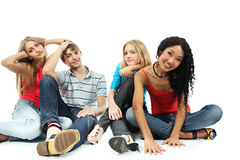 Relax with friends Stock Photography