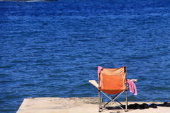 Relax in front of the sea. A summer holiday full of relax at Ilovik island, Croatia Stock Photo