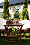 Relax in garden Royalty Free Stock Photo