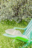 Relax in the garden on a spring day Royalty Free Stock Image