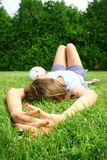 Relax in grass Royalty Free Stock Photos