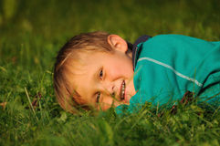 Relax on grass Stock Images