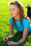 Relax in grass Stock Photography