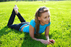 Relax in grass Stock Photos