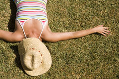 Relax on the grass Royalty Free Stock Image