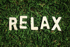 Relax on grass Royalty Free Stock Photography