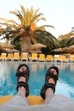 Relax in Greece Royalty Free Stock Images