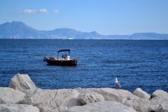 Relax in Gulf of Naples Royalty Free Stock Photography