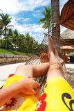 Relax in hammock Royalty Free Stock Photography