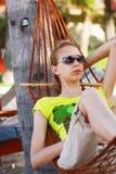 Relax in hammock Royalty Free Stock Photo
