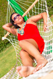 Relax on the hammock Royalty Free Stock Photography
