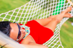Relax on the hammock Stock Images