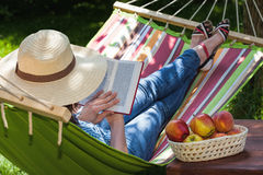 Relax on hammock Stock Photography