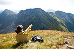 Relax on hiking - view on mountains Stock Image