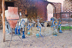 Relax with hookah Stock Photography