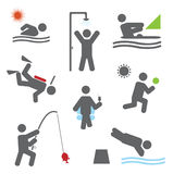 Relax icons Stock Images