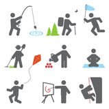 Relax icons. Set for you design royalty free illustration