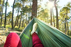 Relax In A Hammock Stock Image