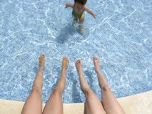 Relax In Hotel Pool 02 Royalty Free Stock Photography