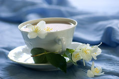Relax with jasmine tea cup Stock Photos