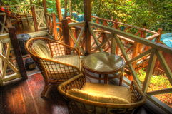 Relax in the jungle. Relax in an island of Tropical paradise. Located in Perhentian island of Malaysia. The resort is Coral View Island Resort Royalty Free Stock Photography