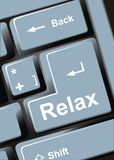 Relax key Royalty Free Stock Photography