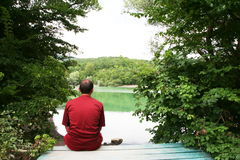 Relax on lake Stock Images