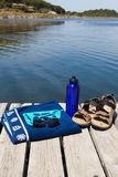 Relax at a lake Stock Image