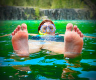Relax on the lake. Royalty Free Stock Image