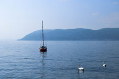 Relax on the lake. In Italy royalty free stock images