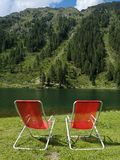 Relax on the lake stock image